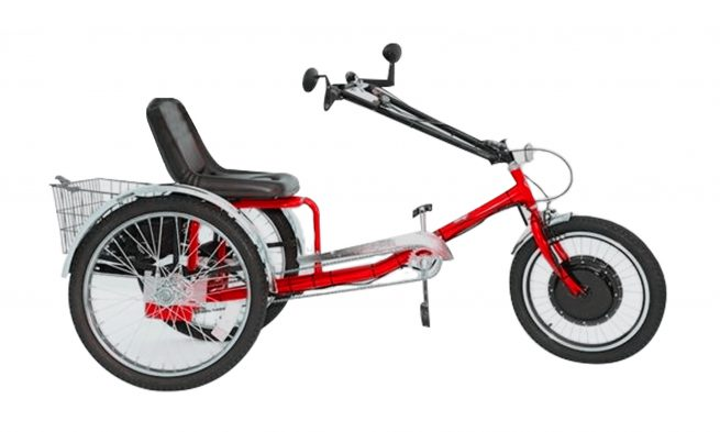 ZizeBikes - Supersized Personal Activity Vehicle | Tricycle e-bike - Racing red