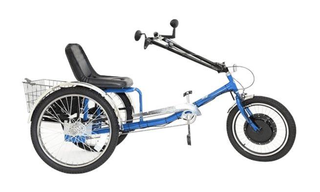 ZizeBikes - Supersized Personal Activity Vehicle | Tricycle e-bike - electric blue
