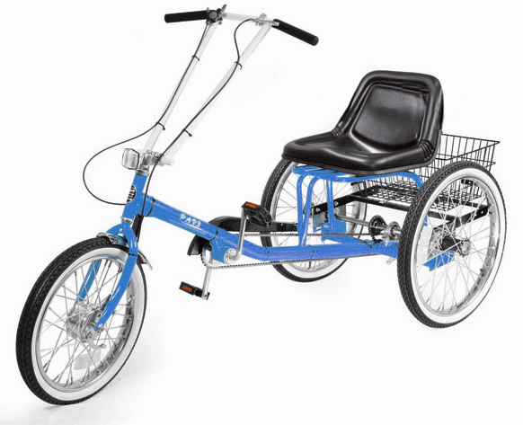 ZizeBikes - Supersized Personal Activity Vehicle | Tricycle - electric blue