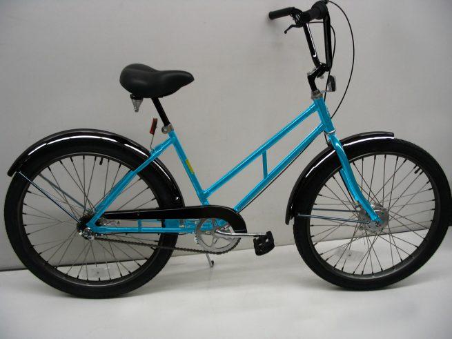 Supersized Newsgirl with High Rise Handlebars blue bike